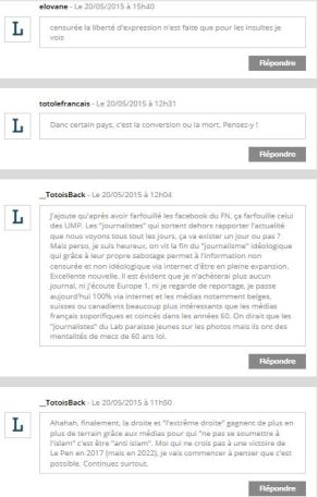 reactions commentaires europe
